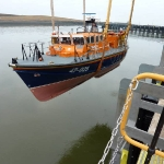 Workington Lifeboat being launched