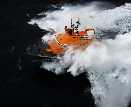 Penlee Lifeboat in rough seas